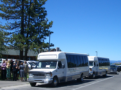 Buses at Riva Grill